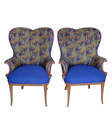Pair of Peacock Wing Chairs