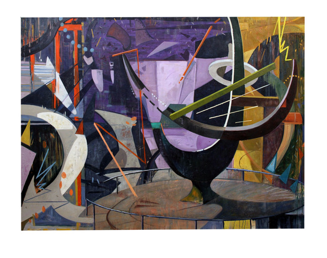 """March of Time 2015, oil on canvas, 60""""H x 80""""W x 2""""D"""