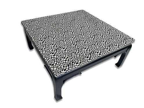 Black and White Asian Modern Geometric Top Coffee Table