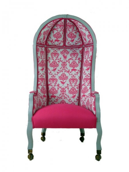 One Hot Pink Vintage Bonnet Top Chair
