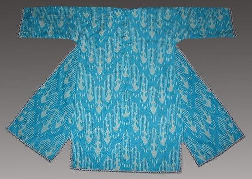 Unusual Turquise SilkSuzani Robe