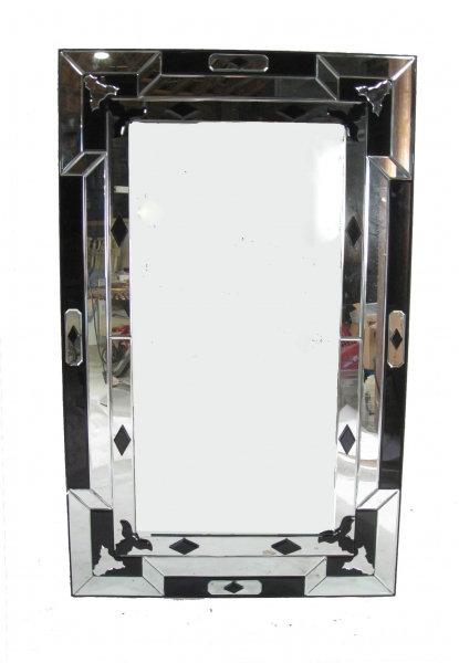 Geometric Black Art Deco Mirror