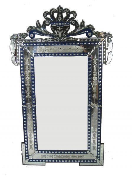 Massive Sultan Blue Venetian Mirror