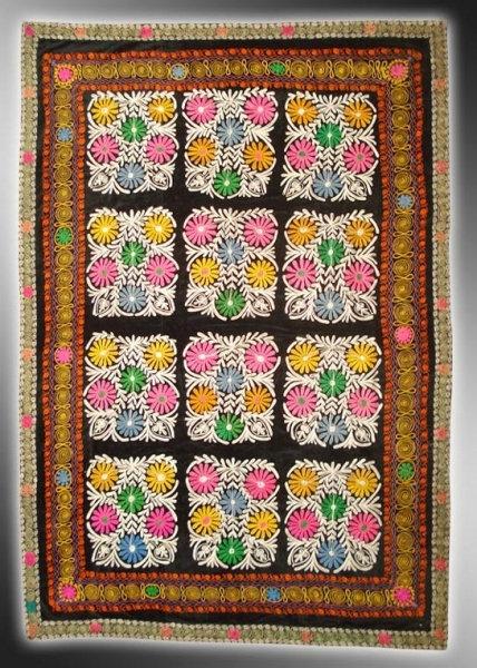 Floral Cubes Suzani