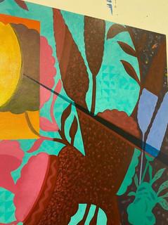 """Reflections of Paradise"" Mau Aniani o ka Lani (Hawaiian) Acrylic, 48""x60"" DETAIL"