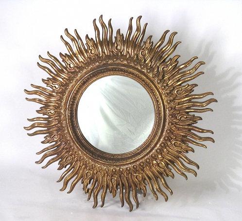 Large Gold Leaf Starburst Mirror