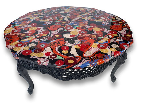 Art Deco Resin Top Coffee Table