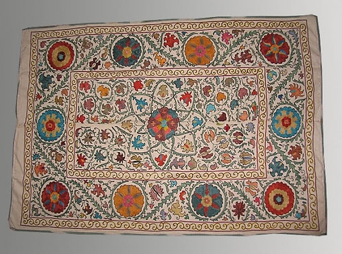 Silk Hand Embroidered Suzani