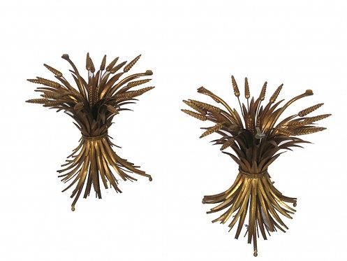 Italian Gilt Wheat Accent Tables