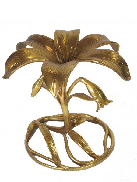 Italian Gilt Palm Accent Table