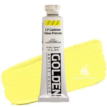 Acrylique Golden Heavy Body 59ml Jaune Cadmium Primrose 135 S7