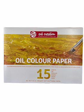 Bloc papier pour huile Art Création A4