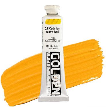 Acrylique Golden Heavy Body 59ml Jaune Cadmium Foncé 110 S7