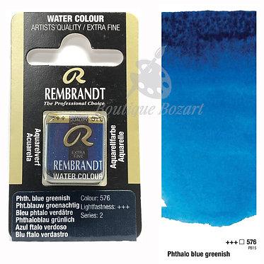 Aquarelle Extra-fine Rembrandt - Bleu Phtalo Verdâtre 576 série 2