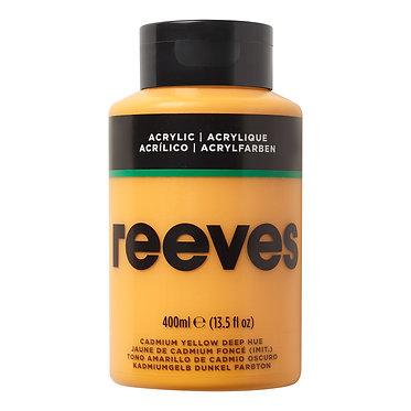 Acrylique fine Reeves 400ml Jaune Cadmium Foncé (imit)