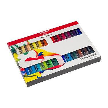 Set de 24 tubes Acrylique Amsterdam Standard