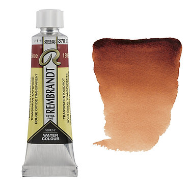 Aquarelle Extra-fine Rembrandt tube 10ml - Rouge Oxyde Transp. 378 S2