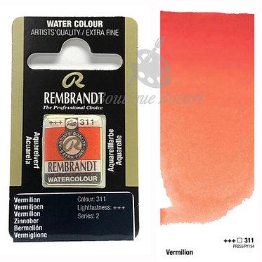Aquarelle Extra-fine Rembrandt - Vermillon 311 série 2