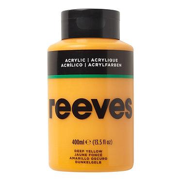 Acrylique fine Reeves 400ml Jaune foncé