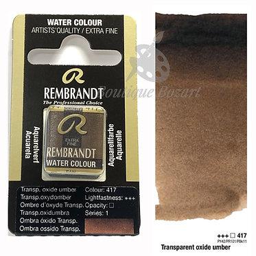 Aquarelle Extra-fine Rembrandt - Ombre d'Oxyde Transparent 417 série 1