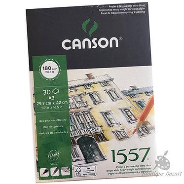 Bloc papier Dessin 1557 180g/m2 Canson