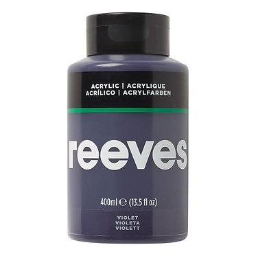 Acrylique fine Reeves 400ml Violet
