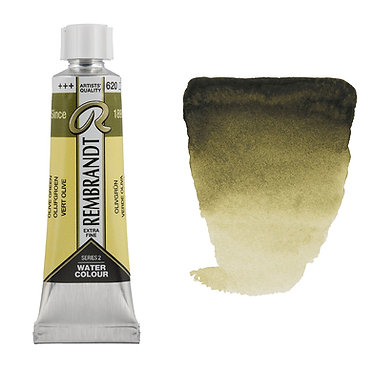 Aquarelle Extra-fine Rembrandt tube 10ml - Vert Olive 620 S2