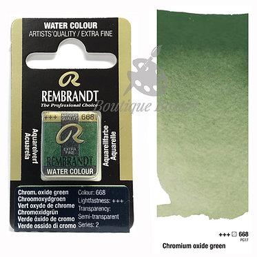Aquarelle Extra-fine Rembrandt - Vert Oxyde Chrome 668 série 2