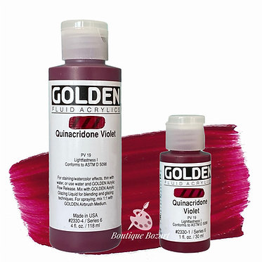 Golden Fluide Acryl - Quinacridone Violet S6