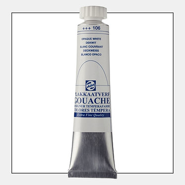 Gouache Extra-fine Quality Talens - Blanc couvrant 106