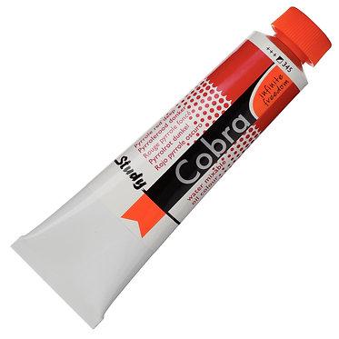 Huiles dilluable à l'eau Cobra Study Rouge Pyrrole Foncé 345