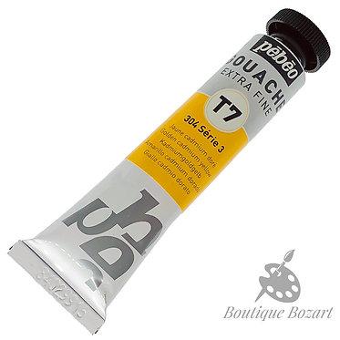Gouache T7 de Pébéo 20 ml Jaune cadmium doré 304 Série 3
