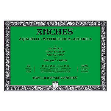 Bloc Arches grain fin 300g 4 formats