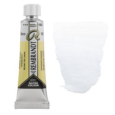 Aquarelle Extra-fine Rembrandt tube 10ml - Blanc de Chine 108 S1
