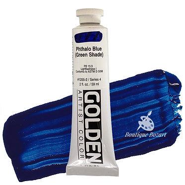 Acrylique Golden Heavy Body 59ml Bleu Phtalo Vert shade 260 S4