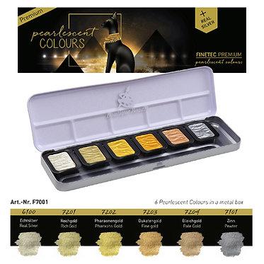 """FINETEC PREMIUM 7001 - 6 couleurs nacrées """"Antique Tones"""""""