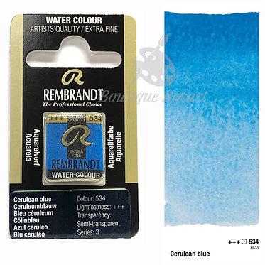 Aquarelle Extra-fine Rembrandt - Bleu Ceruleum 534 série 3