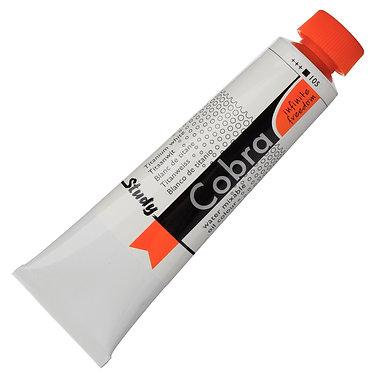 Huiles dilluable à l'eau Cobra Study Blanc Titane 105