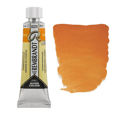 Aquarelle Extra-fine Rembrandt tube 10ml - Orange Cadmium 211 S3