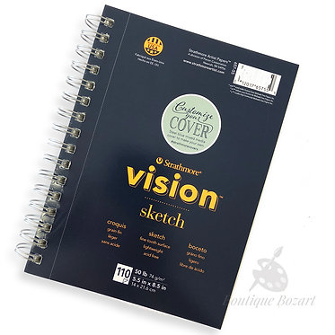 Bloc papier Sketch Vision 14x21.6 cm