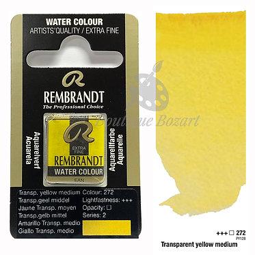 Aquarelle Extra-fine Rembrandt - Jaune transparent medium 272 série 2