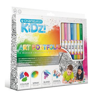 Blend & Spray Chameleon Kidz Art Portfolio Set 14 - 1301