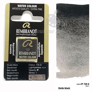 Aquarelle Extra-fine Rembrandt - Noir Oxyde 735 G série 1