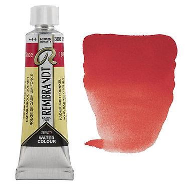 Aquarelle Extra-fine Rembrandt tube 10ml - Rouge Cadmium Foncé 306 S3