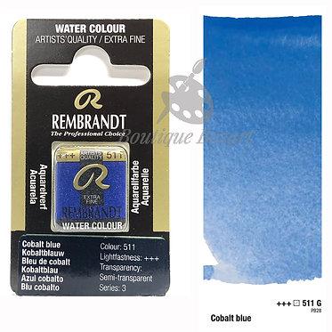 Aquarelle Extra-fine Rembrandt - Bleu de Cobalt 511G série 3