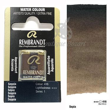 Aquarelle Extra-fine Rembrandt - Sepia 416 série 1