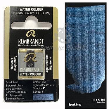 Aquarelle Extra-fine Rembrandt - Bleu Scintillant 865 série 3