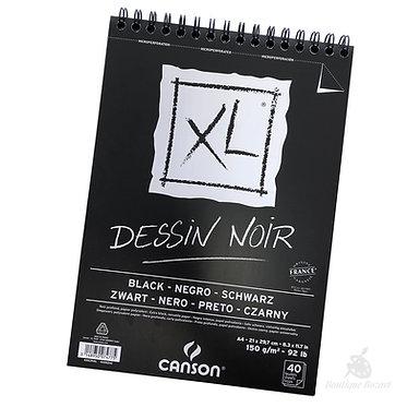 Bloc spiralé Canson XL Dessin Noir