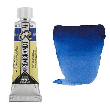 Aquarelle Extra-fine Rembrandt tube 10ml - Bleu Phtalo Rougeâtre 583 S2