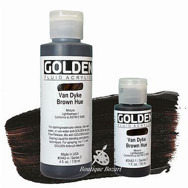 Golden Fluide Acryl - Van Dick Brown Hue S3